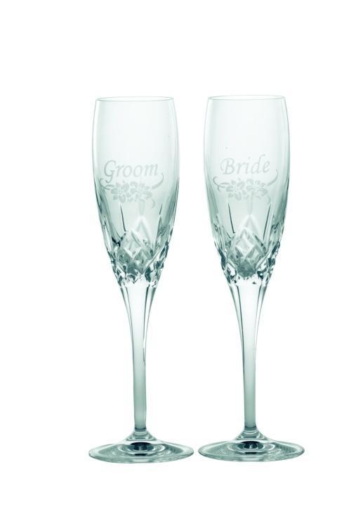 $95.00 Bride & Groom (Floral Spray) Flutes