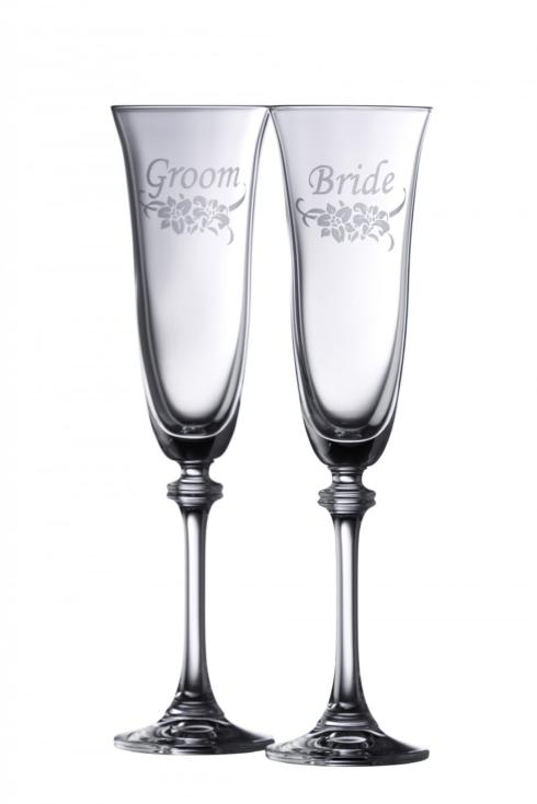 $30.00 Floral Bride & Groom Liberty Flute Pair