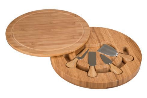 B.I.A. Cordon Bleu  Bamboo Accessories  Swivel Cheese Board and Knife Set $38.00