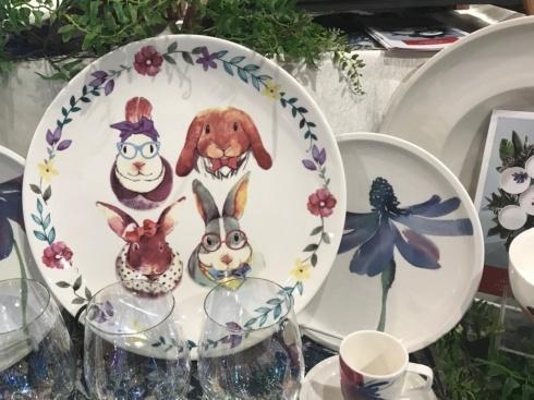 $21.00 Four Bunny Family Platter