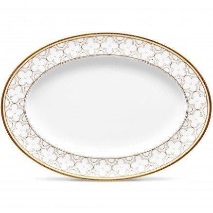 Noritake  Trefolio Gold Oval Platter $182.00