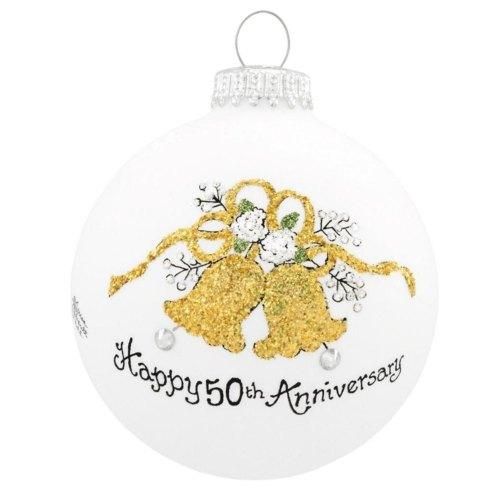 $22.00 Happy 50th Anniversary Ornament -- with Swarovski Crystal