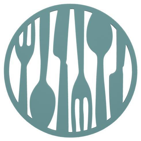 B.I.A. Cordon Bleu  Kitchen & Home Flatware Trivet: Turquoise $10.00