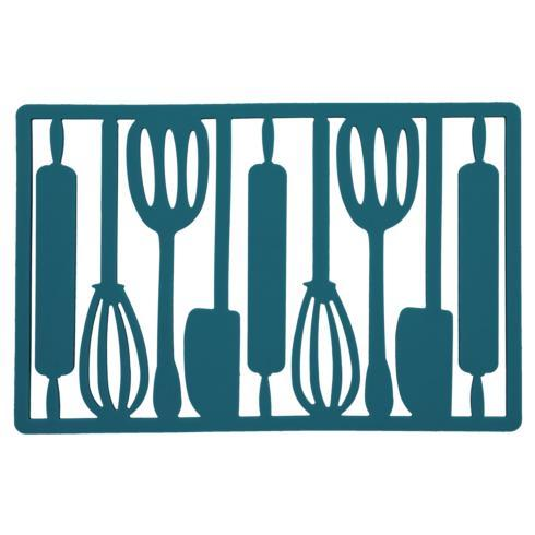 B.I.A. Cordon Bleu  Kitchen & Home Utensil Trivet: Teal $10.00
