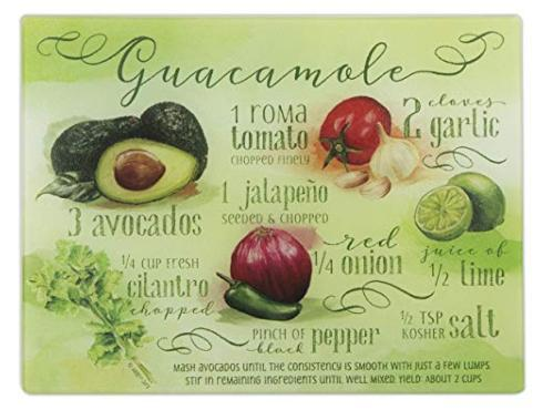 $22.00 Guacamole Recipe Cutting Board