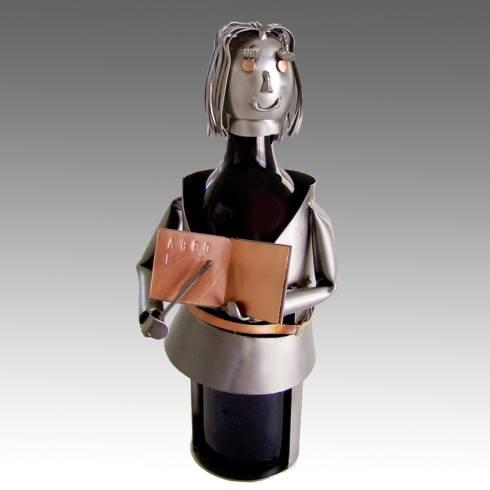 H & K Steel Sculptures  Steel Sculpture Wine Bottle Holders Teacher, Female: Wine Bottle Holder $58.95
