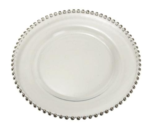 Elegance by Leeber  Chargers Silver Beaded Glass Charger, Set of 4	 $120.00