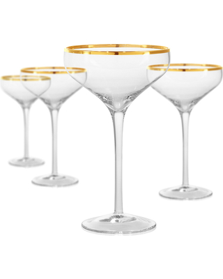 Artland  Gold Band Coupe Champagne, Set of 4 $40.00