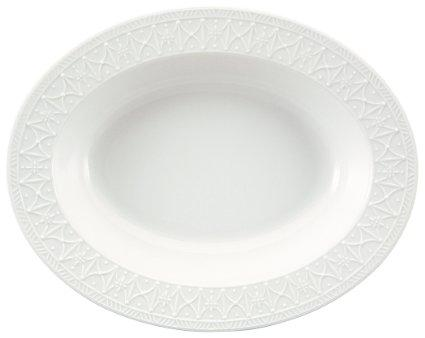 "Nikko  Blanc Fleur Oval Vegetable Bowl, 11"" $27.00"