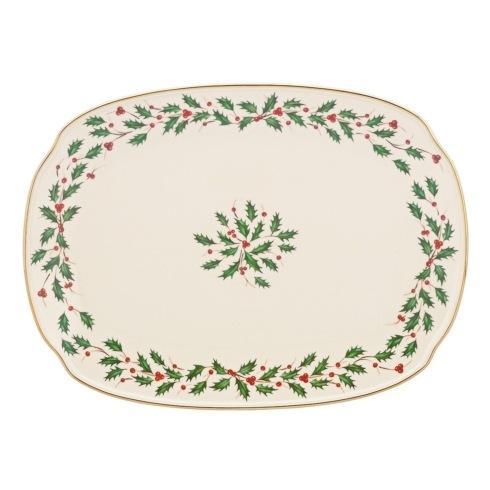 """Lenox  Holiday Dinnerware Oblong Platter, 15.25"""" $50.00"""