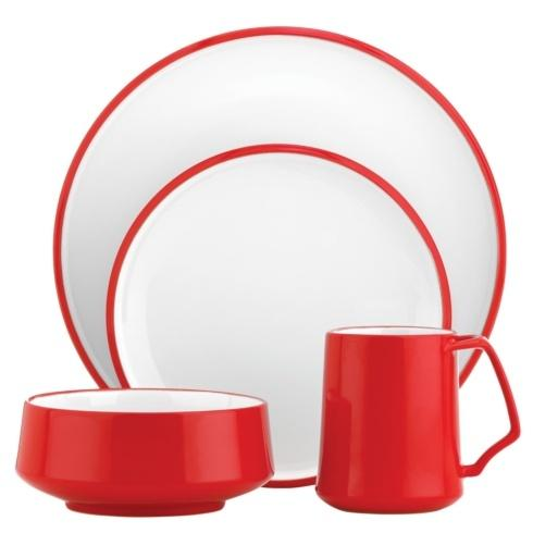 Dansk  Kobenstyle Chili Red Chili Red 4 Piece Place Setting $40.00
