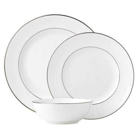 Lenox  Continental Dining Platinum 3 Piece Place Setting $80.00