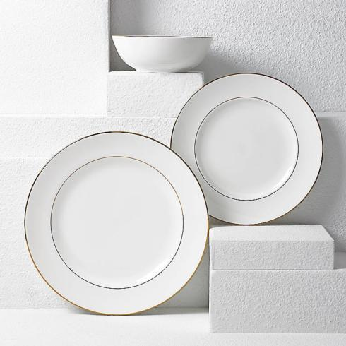 Lenox  Continental Dining Gold 3 Piece Place Setting $80.00