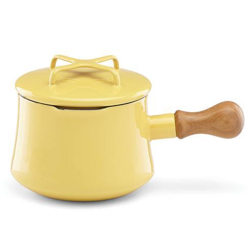 Yellow 1 Qt Sauce Pan with Lid/ Hot Cocoa Pot
