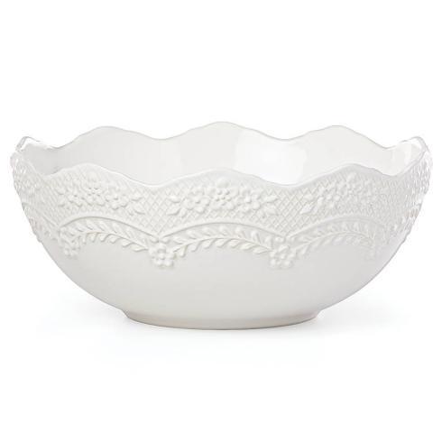 Lenox Chelse Muse Reactive White Accessories Scallop Serving Bowl $80.00