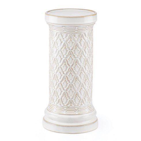 Lenox  Global Tapestry Medium White Pillar Candle Holder $50.00