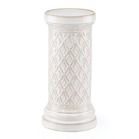 Lenox  Global Tapestry Medium White Pillar Candle Holder $38.00