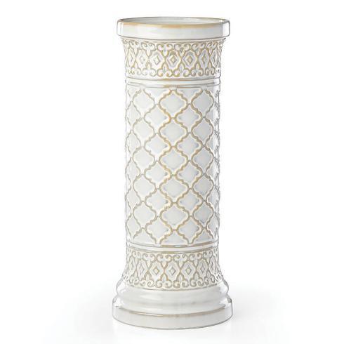 Lenox  Global Tapestry Large White Pillar Candle Holder $60.00