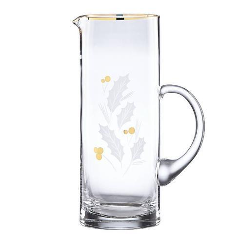 Lenox  Holiday Gold Barware Glass Beverage Pitcher $40.00