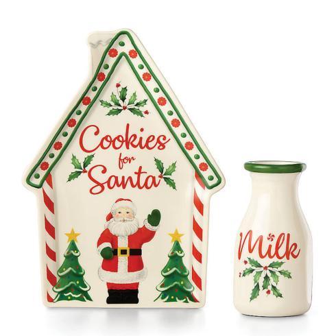 $30.00 Cookies & Milk for Santa, 2 Piece Set