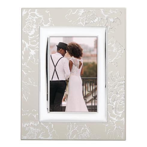 Lenox  Silver Peony Wood 4x6 Frame $50.00