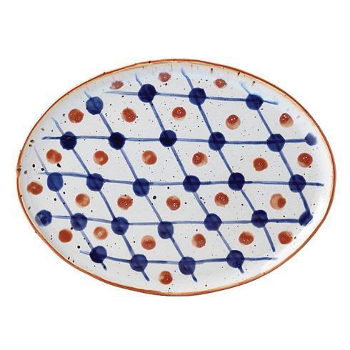 $30.00 Oval Plate Dot Grid