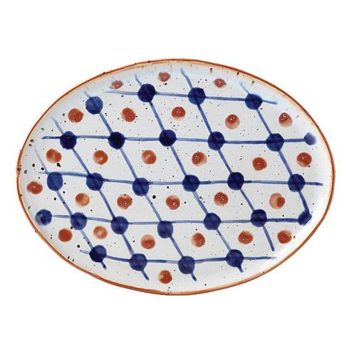$30.00 Oval Plate Dot Grid