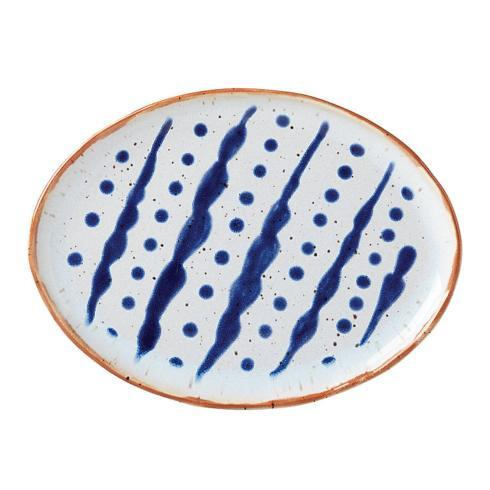 $20.00 Oval Plate Dots & Lines
