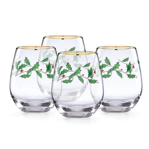 Lenox  Holiday Barware Stemless Wine, Set of 4 $40.00