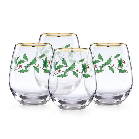 Lenox  Holiday Barware Stemless Wine, Set of 4 $40.00