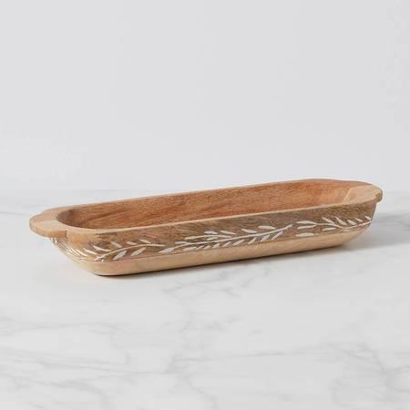 Lenox  Textured Neutrals Wood Dough Bowl $90.00