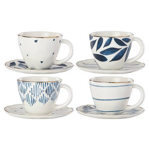 Lenox  Blue Bay Espresso Cups & Saucers, Set 4 $60.00