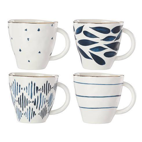 Lenox  Blue Bay Dessert Mugs, Set 4 $50.00