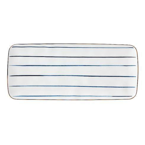 Lenox  Blue Bay Stripe Hors d\'oeuvres Tray $40.00