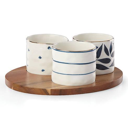Lenox  Blue Bay Round Snack Bowls, Set 3 $40.00