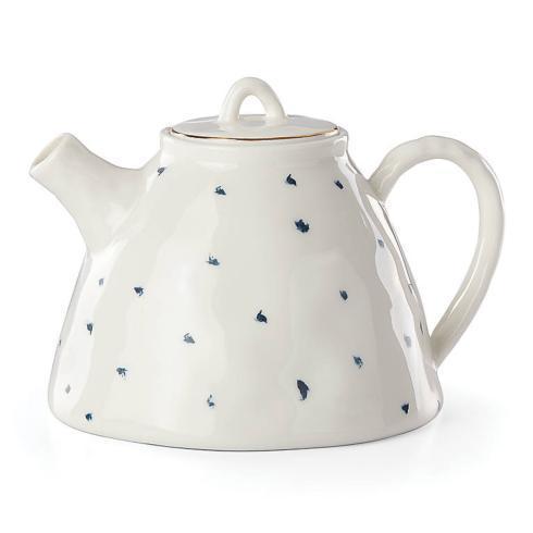 Lenox  Blue Bay Dot Teapot $50.00