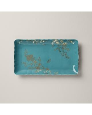 Lenox  Sprig & Vine Turquoise Hors D\'oeuvres Tray $70.00