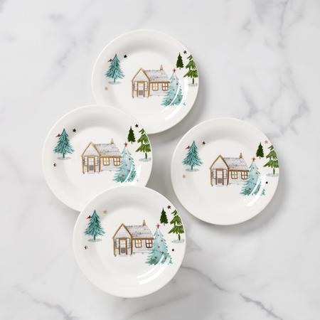 Lenox  Balsam Lane Cabin Tidbit Plates, Set of 4 $30.00
