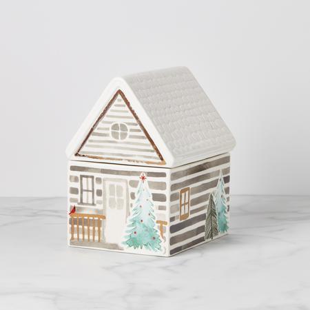 Lenox  Balsam Lane Cabin Cookie Jar $50.00