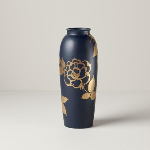 Lenox  Sprig & Vine Gold & Navy Tall Vase $60.00