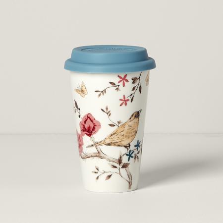 $12.00 White Travel Mug