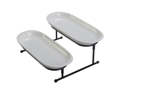 B.I.A. Cordon Bleu  Simply Serving 2 Oval Bowls with Stand $30.00