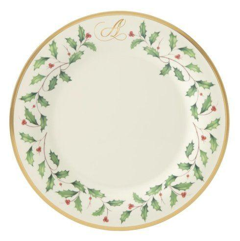 $33.00 Dinner Plate A  sc 1 st  Live With It by Lora Hobbs & Sale: Holiday Monogram Dinnerware ~ Holiday Custom Monogrammed \