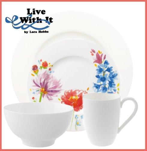 Villeroy & Boch  Anmut Anmut and Anmut Flowers ~ 4 Piece Custom Designed Place Setting $100.10