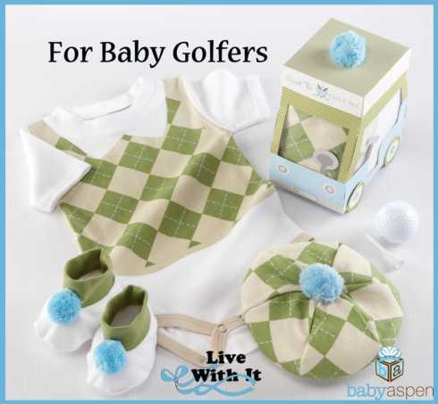 "$32.00 ""Sweet Tee"" Three Piece Golf Layette Set - 0-6 Mo."