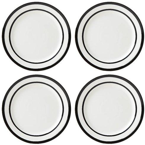 Kate Spade  Sculpted Stripe Black Dinnerware Dinner Plate, Set of 4 $60.00