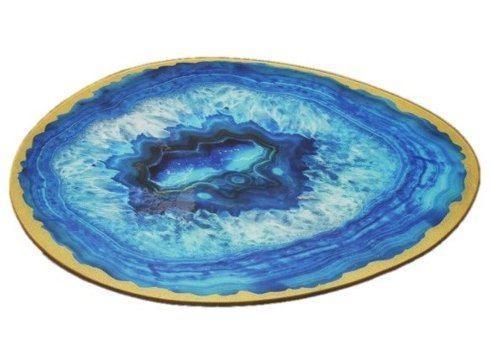 Ever Ellis   Blue Geode Platter $28.00