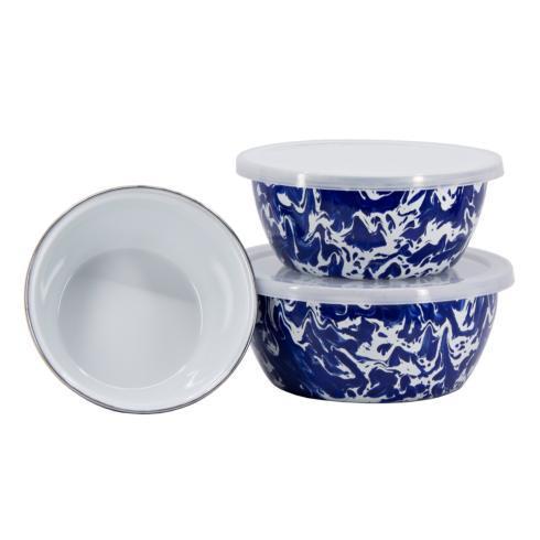 Golden Rabbit  Cobalt Swirl Nesting Bowls, Set of 3 $38.00