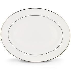 "Lenox  Continental Dining Platinum Oval Platter, 16"" $100.00"