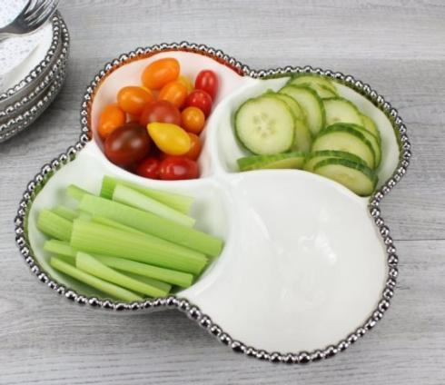 Live With It by Lora Hobbs Exclusives  Pampa Bay Salerno 4 Section Divided Dish $43.75